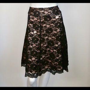 Liz Claiborn lace A Line flowy sexy dressy